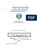 Informe Final de Auditoria de Desempeño