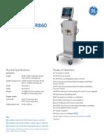 Carescape R860 Spec Sheet