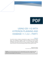 Using ODI 11g With Hyperion Planning and Essbase 11122 Part1