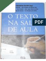 GERALDI, João Wanderley_O Texto Na Sala de Aula