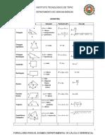 Formulario Para Cálculo Diferencial
