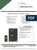 Fuji Frenic 5000g11s _ Frenic 5000p11s Drives Instruction Manual