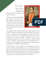 Biografía Resumida de Simón Bolívar