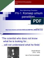 PN-1 Konsep umum penelitian.ppt