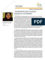 Underwriting Family Takaful Schemes
