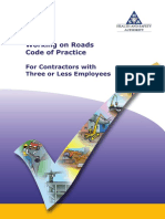 Code of Practice for Three or Less Working on Roads HSA