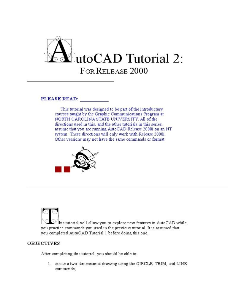 Autocad Tutorial 2 Cartesian Coordinate System Angle