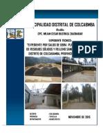 Expediente Relleno Sanitario Colcabamba 2015