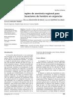 Articulo Anestesia Regional Para Reduccion de Luxacion de Hombro en Urgencias