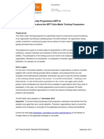 Detailed Information About the Nfp Tailor Made Training Programme