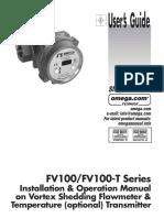 User's Guide FV Series vortex flowmeter and temp transmitter