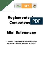 Reglamento Mini Balonmano Jde 2012 (Ok) 16-Nov-11