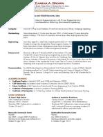 damion brown resume