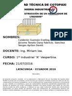 DISEÑO Y CONSTRUCCIÒN DE UN MEZCLADOR DE LÌQUIDOS