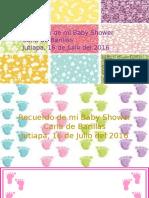 Tarjetitas de Recuerdos Baby Shower
