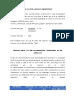 Cálculo de La Cuota de Mercado - Caso Final