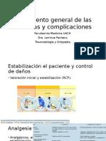 Tratamiento General de Las Fracturas y Complicaciones