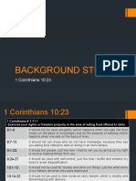 Background Study of 1 Cor 10