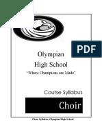 syllabus choir 2016