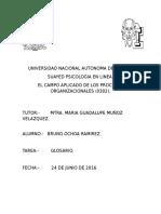 GLOSARIO DE TERMINOS ORGANIZACIONALES