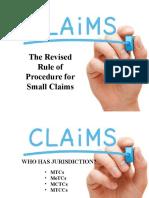 Summary of Small Claims