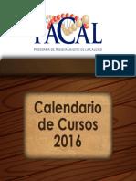 Calendario de Cursos 2016