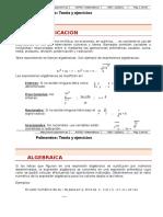 091 Polinomios Teoria y Ejercicios
