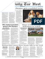 The Daily Tar Heel for July 21, 2016