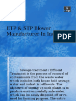 ETP & STP Blower Manufactures in India