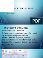 Information and Communications Technology Ms. Excel 01