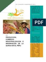Produccion Comercializacion Industrializacion e Innovacion de La Quinua Word
