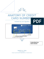 Anatomy of Credit Card Numbers