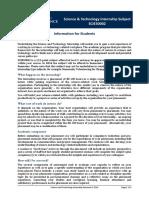 Internship Info for Students-SCIE30002 S2 2016