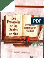 Los Protocolos Estudios y Comentarios Criticos