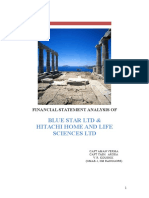 Project Report of Financial Analysis of Blue Star and Hitachi