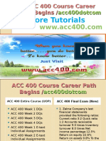 ACC 400 Course Career Path Begins acc400dotcom