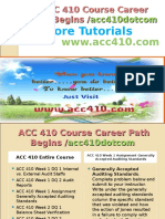 ACC 410 Course Career Path Begins Acc410dotcom