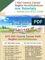 ACC 422 Course Career Path Begins Acc422dotcom