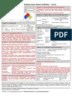MSDS - Zinc Clorida (ZnCl2)