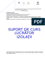 SUPORT de CURS Lucrator in Izolatii