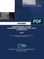 International Status of Molten Carbonate Fuel Celles 2015