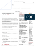 Instalasi Kabel Serat Optik _ Informasi Dunia TIK
