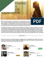 Alumni Facts MBA PGDM