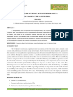 A LITERATURE REVIEW ON NON-PERFORMING ASSETS OF CO-OPERATIVE BANKS IN INDIA