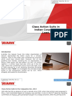 Class Action Suits in Indian Corporate Laws