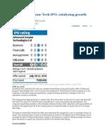 Advanced Enzyme Tech IPO