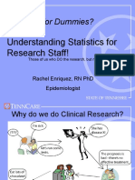 Statistics for Dummies Rachel Enriquez