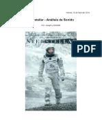 Interstellar - Análisis de Sonido