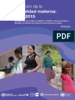 Evolución de La Mortalidad Materna 2000-2015 Oms Unicef