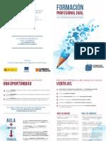 Folleto informativo FP DUAL en Aragón